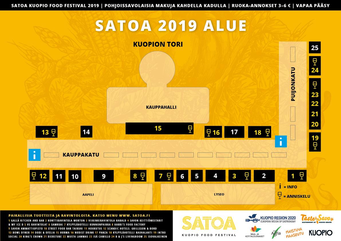 Satoa Kuopio Food Festival alue 2019